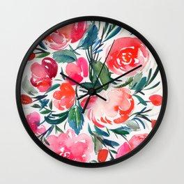 roses: festive bouquet Wall Clock