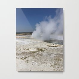 Celpsydra Geyser in Yellowstone National Park Metal Print