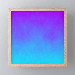 Blue and Purple Ombre - Swirly - Flipped Framed Mini Art Print
