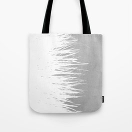 Concrete Fringe White Side Tote Bag
