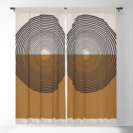 Mid Century Style, Retro  Blackout Curtain