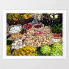 Healthy ingredients Art Print