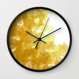 Gold abstract Wall Clock