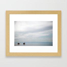 Where the sea and sky seem to slip away Framed Art Print