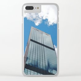 Blue Sky Reflections in a City Skyscraper by Sydney Harbour Clear iPhone Case