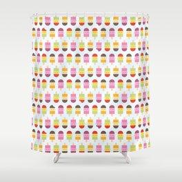 Kawaii Summer Ice Lollies / Popsicles Shower Curtain