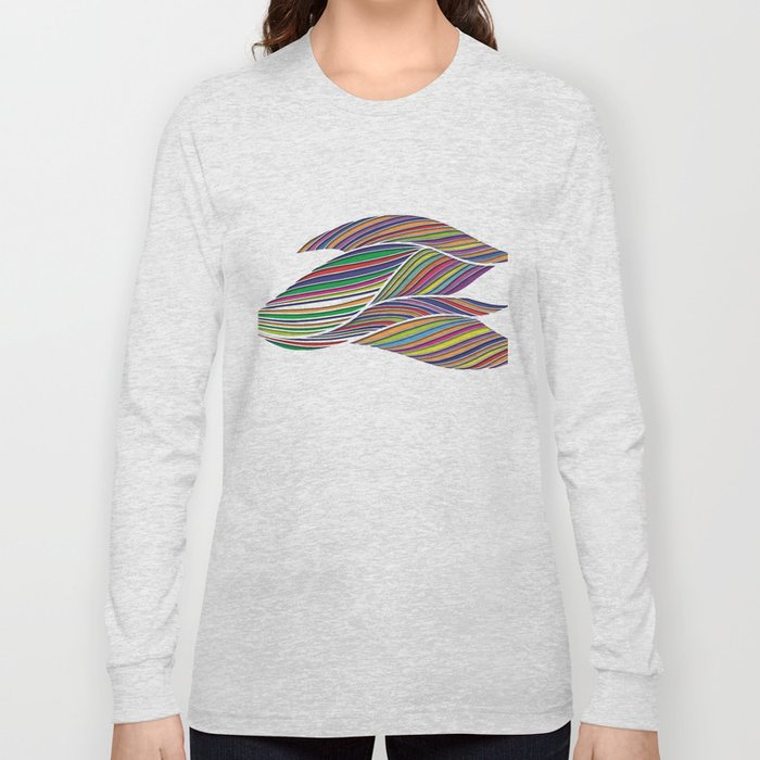 Flowing Lines Long Sleeve T-shirt