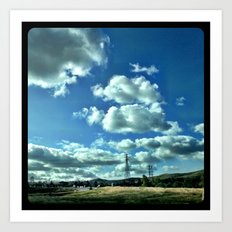 Another beautiful day in southern California. Art Print