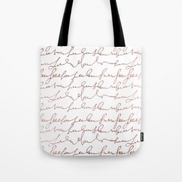 Modern faux rose gold trendy typography Tote Bag