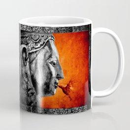 BUDDHA KISS - frame orange black version Coffee Mug