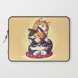 Cat Stack Doodle Laptop Sleeve