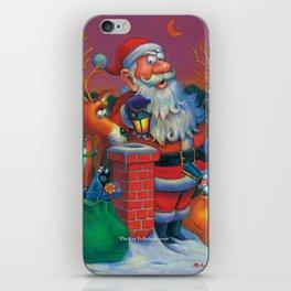 Santa's in a Tight Spot iPhone Skin