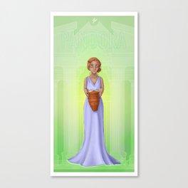 Greek Legends - Pandora Canvas Print
