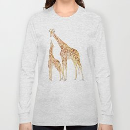 Mother and Baby Giraffes Long Sleeve T-shirt