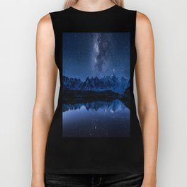 Night mountains Biker Tank