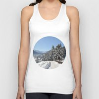 switzerland Tank Tops featuring Winter in Switzerland by Design Windmill