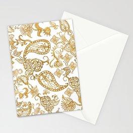 India henna pattern Stationery Cards
