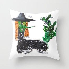 BRUJA DE NOPALES/CACTUS WITCH Throw Pillow