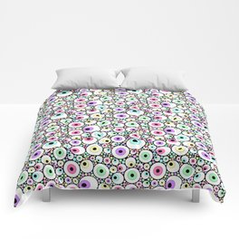 Candy Pastel Eyeball Pattern Comforters