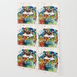 Otter Art - Ottertude - By Sharon Cummings Wallpaper