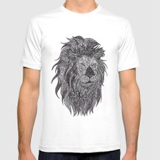 LEO MEDIUM Mens Fitted Tee White