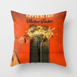 Die Hard travel movie art Throw Pillow