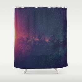 Space Explosion Shower Curtain