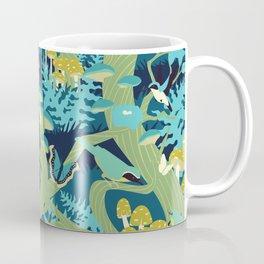 North American Forest Pattern (Greens) Coffee Mug
