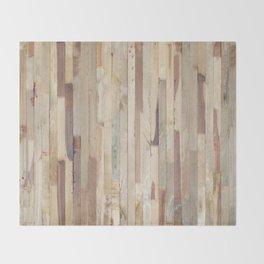 Wood Planks Throw Blanket