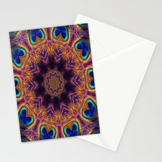 Peacock Fan Star Abstract Stationery Cards