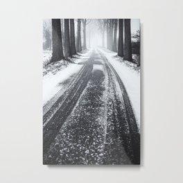 Winter in the Woods II Metal Print