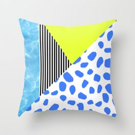 Post Modern Summer Throw Pillow
