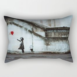 Banksy street art / photograph - girl with red ballon Rectangular Pillow