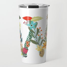 Monogram Letter W Travel Mug