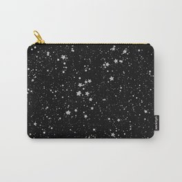 Glitter Stars2 - Silver Black Carry-All Pouch