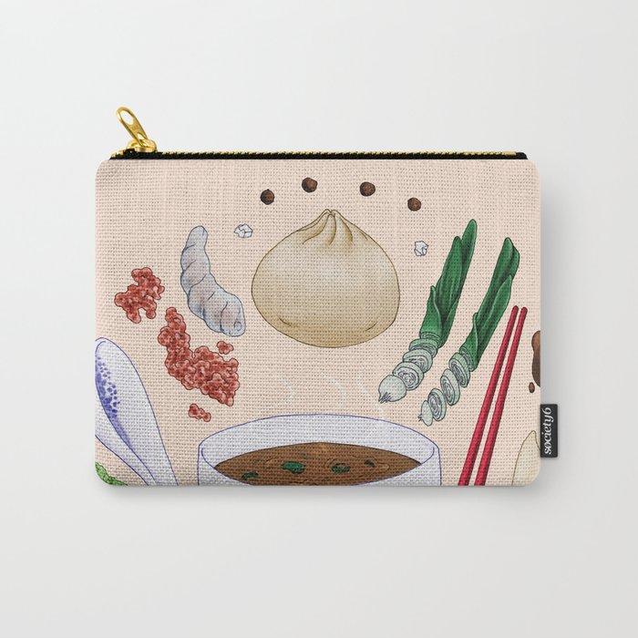 Dumpling Diagram Carry-All Pouch