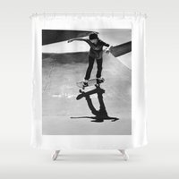 skateboard Shower Curtains featuring Skateboard by Chiarra Mandato