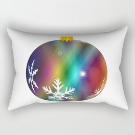 Multi Color Bauble Decoration Rectangular Pillow
