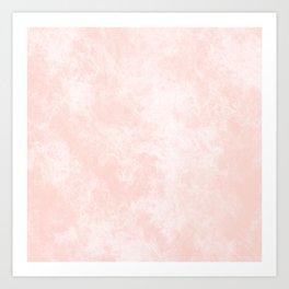 Pink Coral Marble Art Print