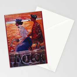 Vintage Meteor Bicycle Ad Poster Stationery Cards