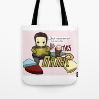 data Tote Bags featuring Data Overload by Ai-hime