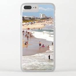 Tourist At Kure Beach Clear iPhone Case