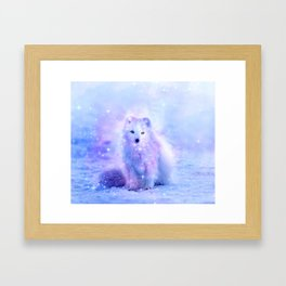 Arctic iceland fox Framed Art Print