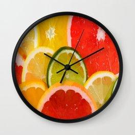 Simply Citrus, Orange Lemon and Mandarin Wall Clock