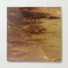 Gold Molten Liquid Fluid Metallic Metal Print