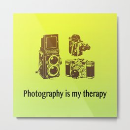 Photography is my therapy Metal Print