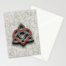 Celtic Knotwork Valentine Heart Bone Texture 1 Stationery Cards