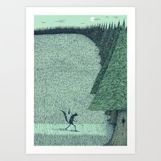 'The Field By The Forest' (Colour) Art Print