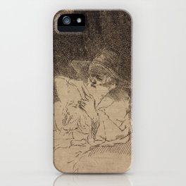 Saint Jerome Reading in an Italian Landscape iPhone Case
