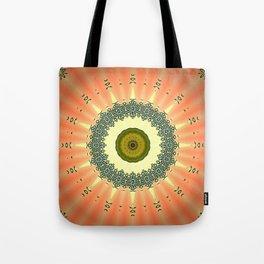 Kiwi and Peaches Mandala Tote Bag